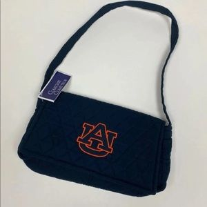 Auburn university quilted embroidered purse
